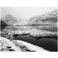 Dove Lake and Cradle Mountain under Heavy Snow, Tasmania