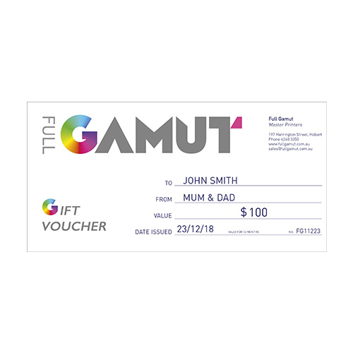 Full Gamut Gift Voucher $100